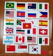 Bộ thẻ cờ các nước