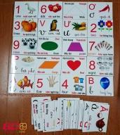 Bộ thẻ chữ cái, số đếm và hình khối