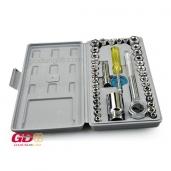 Bộ khẩu mở siết ốc và bugi 40 chi tiết CENTURY TS-23404