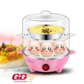 Máy luộc trứng hấp thức ăn 2 tầng tiện dụng